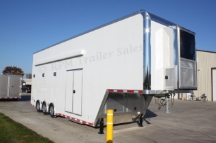 36' Aluminum Gooseneck Stacker Trailer